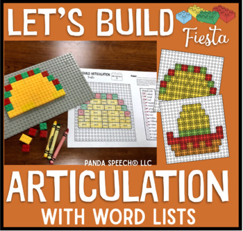 Let's Build Articulation (with word lists): A Fiesta themed toy companion