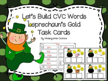 Let's Build CVC Words -Leprechaun's Gold