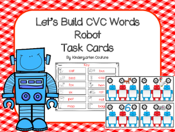 Let's Build Words Robot Theme