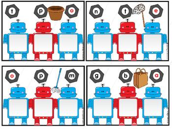 Let's Build Words Robot Theme