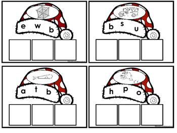 CVC Let's Build Words (Santa Hats)
