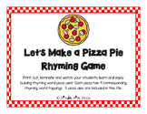 Pizza Rhyming Game