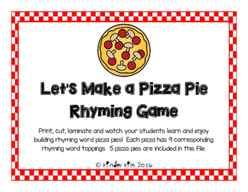 Let's Build a Pizza Pie Rhyming Game