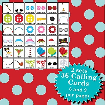 Let's Build a Snowman 5x5 Bingo 30 Cards