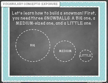 Let's Build a Snowman! Activities to Build Vocabulary and School Readiness