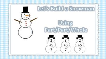 Let's Build a Snowman (Addition using part/part/whole)