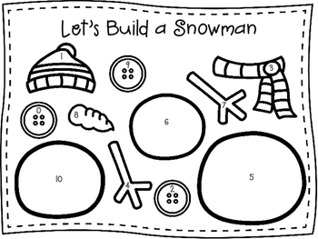 Let's Build a Snowman - An Adding Game