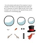Let's Build a Snowman Book Pieces/ Snowman Art Craft