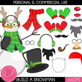 Let's Build a Snowman Clip Art Set