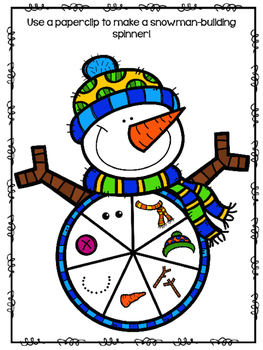 Let's Build a Snowman Language Activity