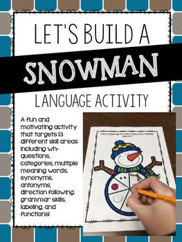 Let's Build a Snowman Language Activity