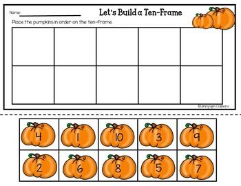 Let's Build a Ten-Frame- Pumpkin Freebie