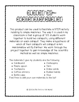 STEM Challenge: Let's Catapult