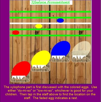 Let's Catch a Rooster~ Game Song~ ta, titi & rest ~Accompaniment~SMARTboard
