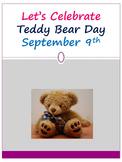 Let's Celebrate Teddy Bear Day September 9th