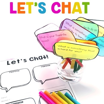 Let's Chat! | Speaking and Listening Center