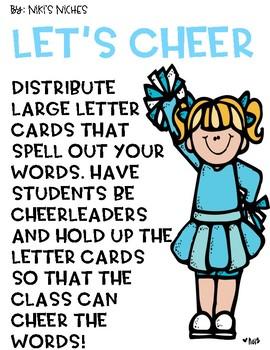 Let's Cheer Freebie