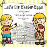 Let's Clip Easter Eggs! A matching Game (Preschool)