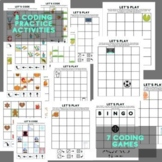 Let's Code! - Printable and Digital Coding Practice and Games