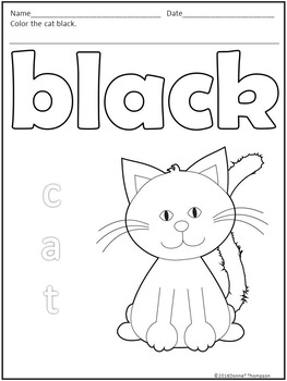 "Let's Learn Our Colors ""Eleven Colors"" (Individual Worksheets)"