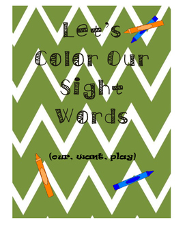Let's Color Our Sight Words