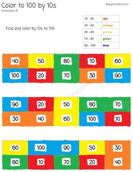 Let's Color to 100 by 10s!