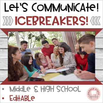 Let's  Communicate!  Icebreakers & Interactive Games for Middle-High School