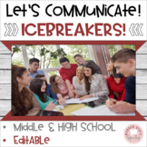 Icebreakers and Interactive Games Middle High School