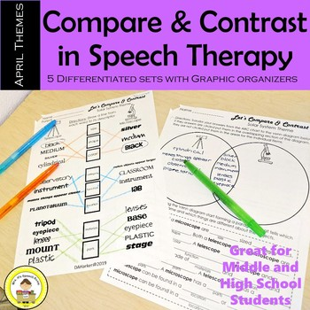 Let's Compare and Contrast in Speech Therapy- April Edition