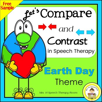 Let's Compare and Contrast in Speech Therapy- Earth Day Theme Freebie