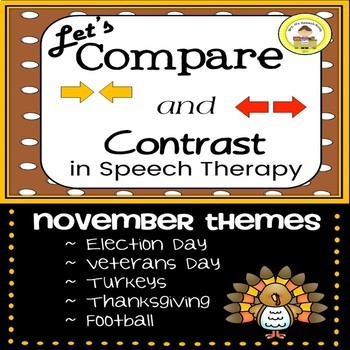 Let's Compare and Contrast in Speech Therapy Fall Themes