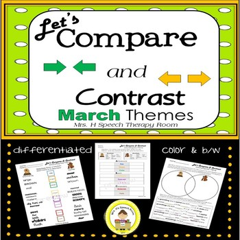 Let's Compare and Contrast in Speech Therapy- March Edition