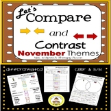 Let's Compare and Contrast in Speech Therapy- November Edition