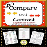 Let's Compare and Contrast in Speech Therapy- September Edition