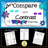 Let's Compare and Contrast in Speech Therapy Winter Themes