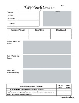 Let's Conference Forms