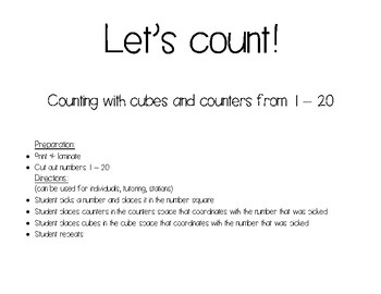 Let's Count 1 to 20