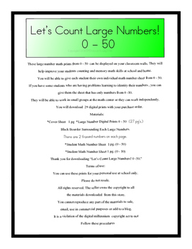 Let's Count Large Numbers! 0 - 50