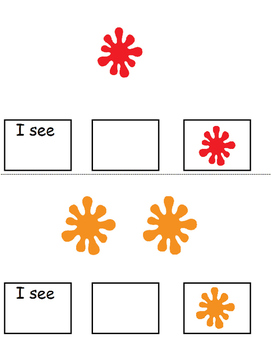 """Let's Count The Colors Adapted book (Math, Colors, """"I SEE)"""