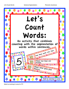 Let's Count Words: A Sentence Segmentation & Math Counting Activity