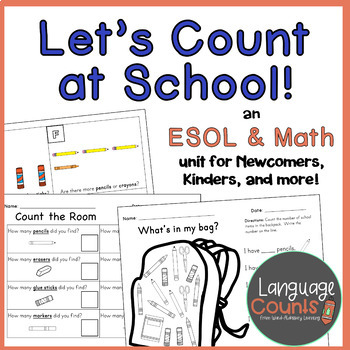 Let's Count at School! Numbers & School Supplies for Newcomers/Kinders!