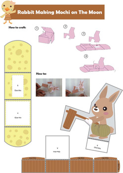Let's Craft Rabbit Making Mochi on The Moon