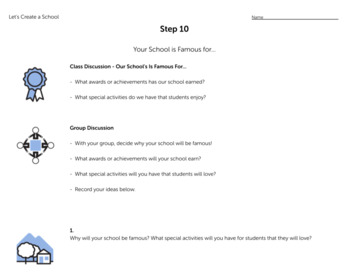 Let's Create A School! - Projects & PBL