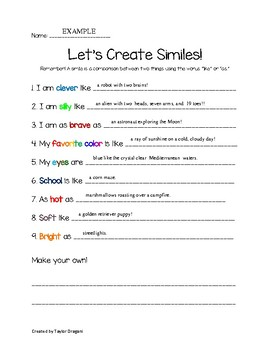 Let's Create Similes!