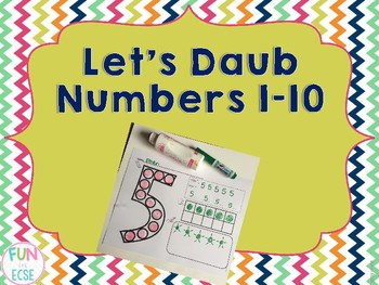 Let's Daub the Numbers 1-10