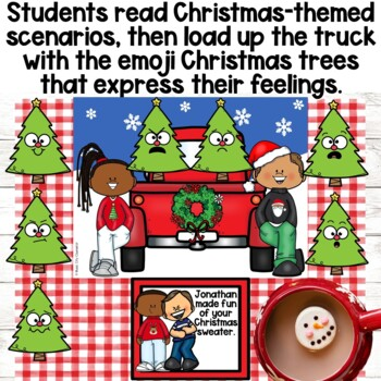 Let's Decorate a FEELINGS CHRISTMAS TREE! Feelings Identification Scenarios Game