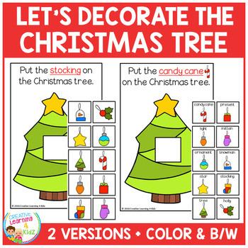 Let's Decorate the Christmas Tree Interactive Book