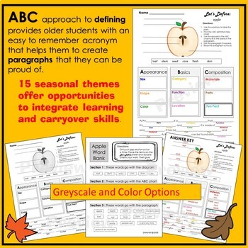 Describing and Defining in Speech Therapy - Fall Edition
