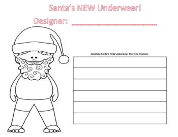 """Let's Describe """"Santa's Underwear"""""""