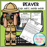 Let's Discover Beavers...Paper Pencil Resource and Interac